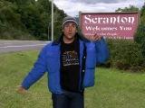 Фрагмент с клипом про город Scranton